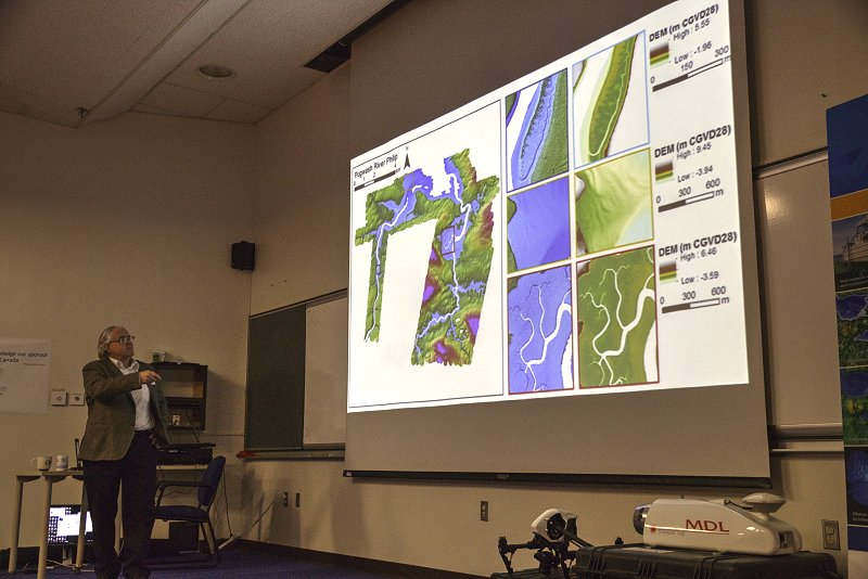 Tim Webster presenting at the High Resolution Mapping along the Coastal Zone Workshop