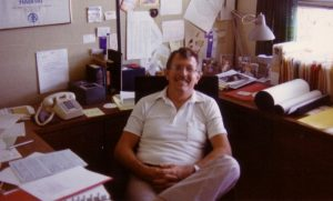 1980s Bob the scientist in his office