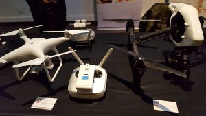 Different drones on displayed by SAIT Polytechnic.
