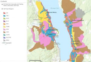 BC Pinot Noir Map enlarged section