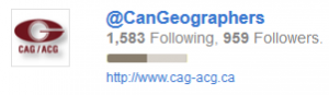 Canadian Geographers Twitters