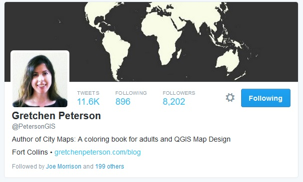 Gretchen Peterson Twitter QGIS