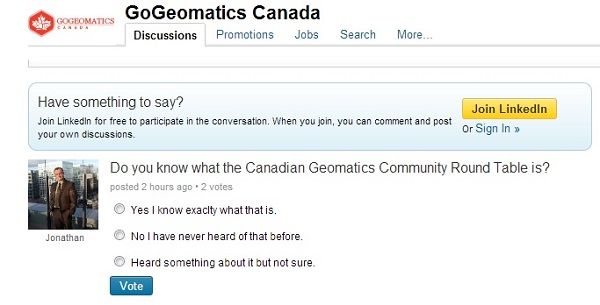 Poll Canadian Geomatics Community Round Table