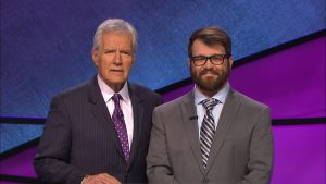 Sam Scovill on Jeopardy with Alex Trebek, December 2016