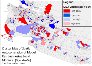Cluster Map of Spatial Autocorrelation