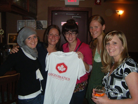 Guests and a couple of our Assistant Editors at GoGeomatics Canada
