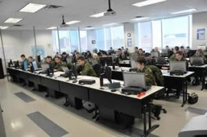 Students at School of Military Mapping at Algonquin College