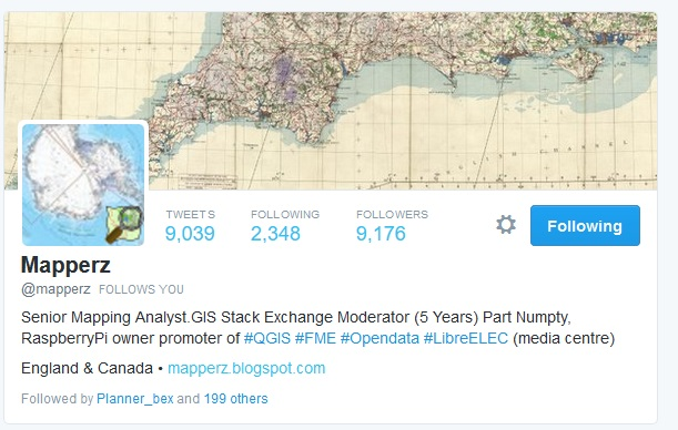 Senior Mapping Analyst.GIS Stack Exchange Moderator