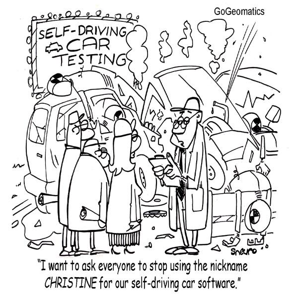 Christine Self-Driving Cars Cartoon