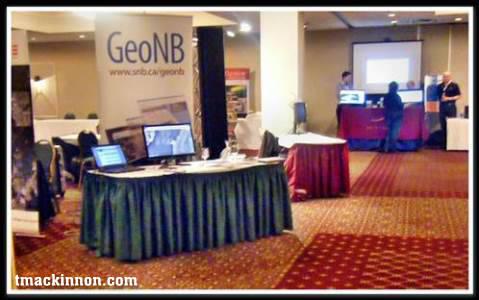 Geomatics Atlantic 2013 GeoNB booth