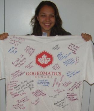 The GoGeomatics Canada T shirt