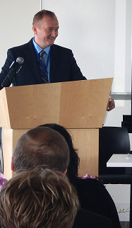 jon at podium