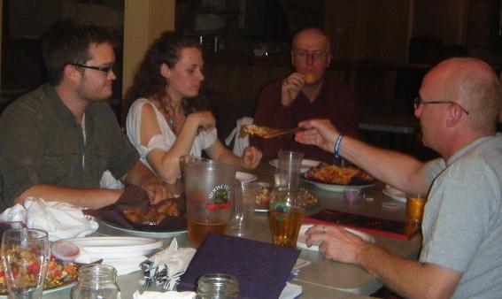 The Niagara gang devouring some snacks