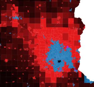 Obama versus Romney 2012 election results