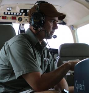 Hopkinson in Navajo conducting multi-spectral LiDAR surveys in Northern Canada