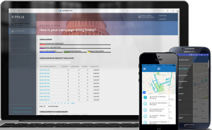 Polis Canvassing App web page